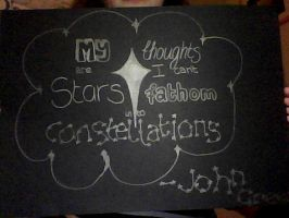 My Thoughts Are Stars. by amythegoldfish