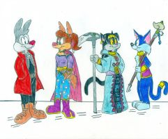 HJ - Tiny Toons and OC by Jose-Ramiro