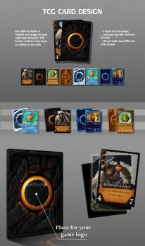 TCG Card Design by GraphicAssets