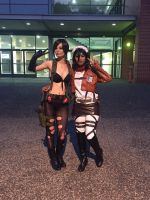 Quiet and mikasa Cosplay by ZombieQueenAlly
