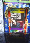 Marilyn Manson on the wall by kavsikuzah