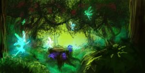 GP-Environment- Earth Kingdom forest by Ningeko16