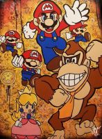 Donkey Kong and Super Mario by mynameisset