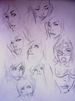 FACE SKETCHS by fuchy