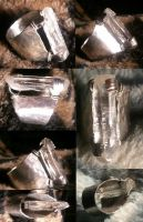 Crystal Quartz Point Ring w/Hand Prongs by BESTGEM4U