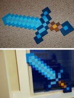 Minecraft diamond sword for Swimmingbirdfly by littlerobin87