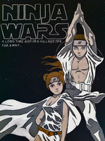 Naruto Star Wars Painting by iareawesomeness