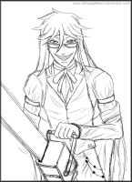 Chainsaw Grell - Art Ask Reply 37 by fallnangeltears