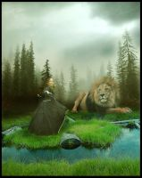Aslan and Lucy by FuzzyBuzzy