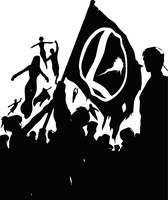 Legion of Superheroes Monotone by bryce-z