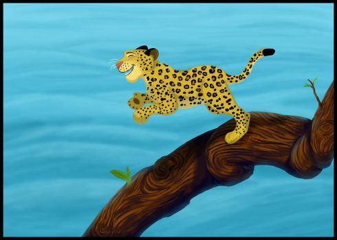 Leaping Leopard by Itsgoose2u
