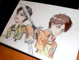 Eren manga and anime style by Anna-Knightley
