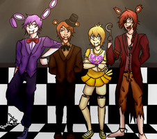 Five nights at Freddy's (Human version) by Sailor-sheep