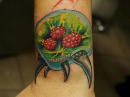 Metroid tattoo by -sagie-