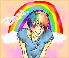 Rainbowdash male by Ibu-nyan
