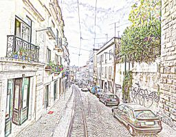 On Track in Lisbon by TessieLAmour