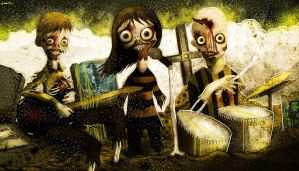 zombie band by berkozturk