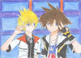 Smile - Sora and Roxas. by Whitewest