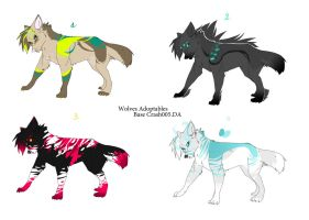 Wolves adoptable 1 by Crash005