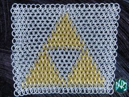 brass chainmail tri-force by DCRIII