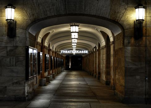 theatre entry at night by Jamest4all