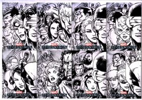 Marvel Beginning sketchcards A by gammaknight