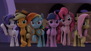 SFM - Ponies should poni poni by Stormbadger