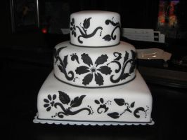 black white wedding by cakelover88