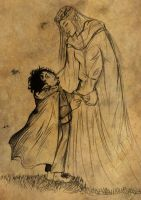 Frodo and Galadriel by saphir93