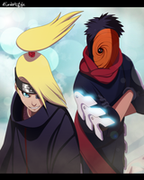 Deidara and Tobi by exdarkstyle