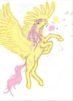 colorized realistic fluttershy progress by Pwnyville