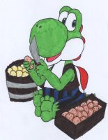 Pirate: Yoshi by luigidrawer112