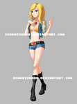 Anime girl Commission $65 by GenghisKwan