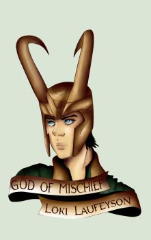 God of mischief by pitchblack1994