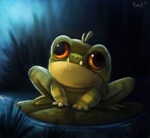 DAY 40. Derp Frog (35 Minutes) by Cryptid-Creations