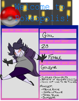 Pokeopolis Application: Gina by SpiffyShoes