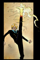 Sanji Fire Shoot by Alblade