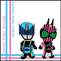 Kamen Rider Dcd and Dnd by Kisachi