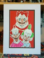 Killer Klowns from Outer Space Illustration  by craftgeekgirl