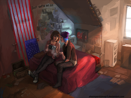 Max and Chloe - Life is Strange by DreamyNatalie