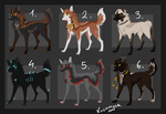 Canine Adoptables OPEN FOR 4# by Kocurzyca