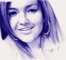 Barbara - ballpoint pen sketch by LopezLorenzana