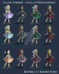 Character Colour Schemes by Manda-of-the-6