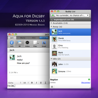 Aqua for Digsby version 1.1.3 by bogo-d