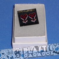 Kingdom Hearts Heartless Studs by Plastic-Paradox