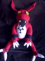 Guilmon Plushie by Noellisty