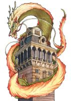The Tower Dragon by vinree
