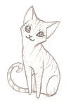 Kitty sketch by diaszoom