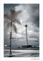 The National Monument Tower by indonesia