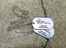 Clarice Shepard dog tags by Katlinegrey